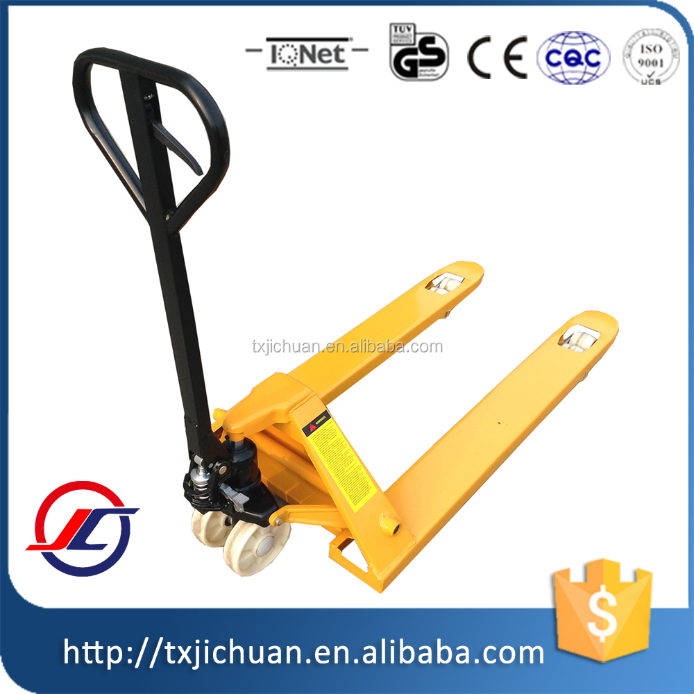 Manual hydraulic Pallet Truck Double Wheels/Pallet Trolley
