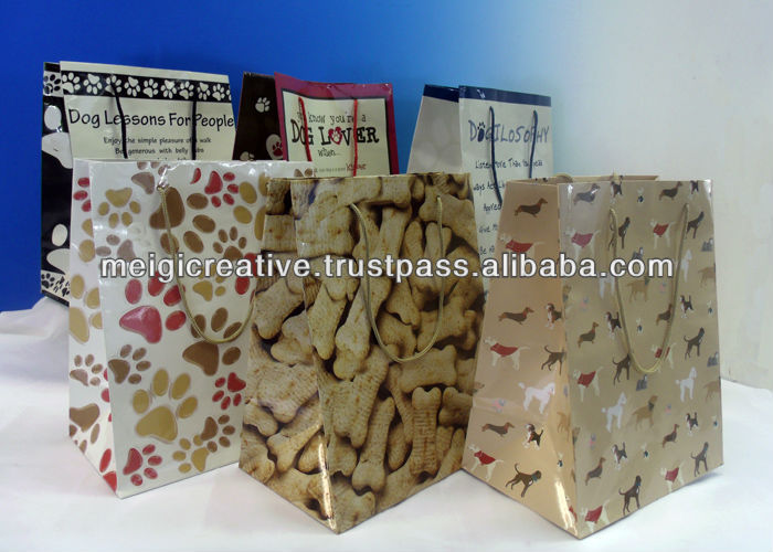 Custom Paper Gift Bags with Handle, Retail Gift Packaging
