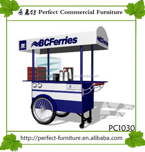 mobile fast food cart cafe bar kiosk for sale