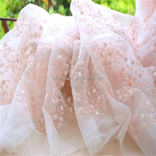 2017 New fashion tulles bordados embroidered organza fabric