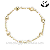 2016 trade assurance wholesales gold plated charm bracelet for woman