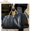 new arrival genuine cow leather travel duffle bag weekend luggage bag