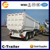 supply good price 35cbm 3 axle trailer tractor tipper trailer