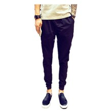 Summer Men's Fashion Cotton Pencil Casual Slimming Waist Trousers Cute Boys Hot Pants