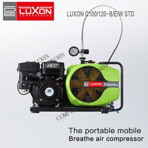 LUXON C100/EM STD portable high pressure breathing air compressor EN12021 (scuba diving & firefighting)