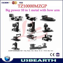 Best cost hot combination metal grinding tools TZ10000MZGP with big power mini metal 10 in 1 kits sanding wood turning machine