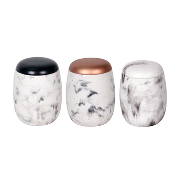 color metal storage jar with copper lid marble candle jar