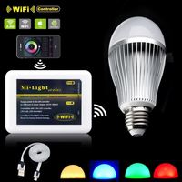 E27 9W RGBW WiFi LED Smart lighting Milight AC 85-265V color changing dimmable Light led Lamp Bulb