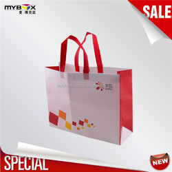 Fashionable printed bag luxury brand bags recyclable everyday custom tote bag shopping bag foldable