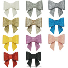 HBW-1512033 Wholesale Adorable Leather Glitter 2 inch Shimmering Mini Hair Bows
