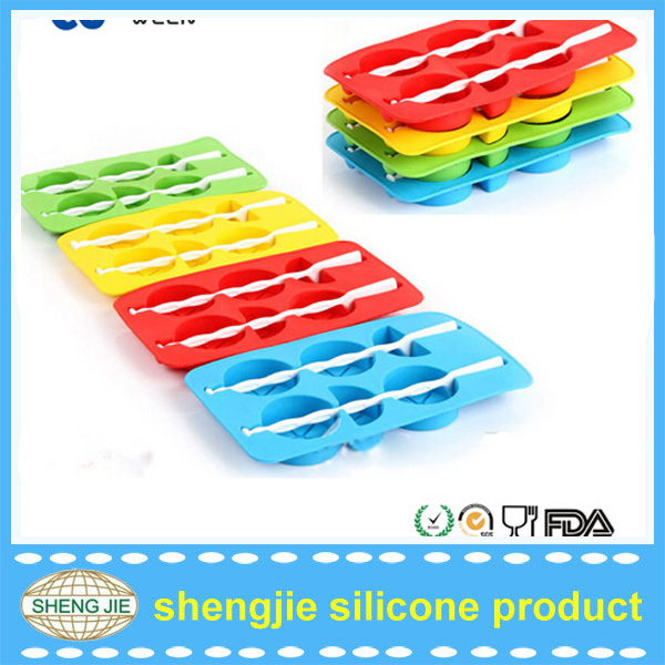 Silicone Ice Tray Glass Shaped Cube Mold Restaurant Ice Machines Economic custom ice trays
