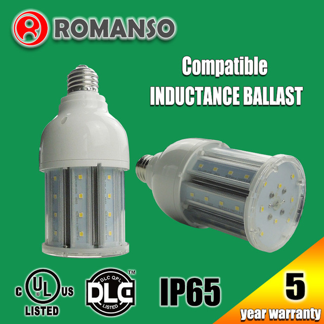 Waterproof ip65 110lm/W led bulb 12w e27 led corn lamp suitable for enclosed/sealed fixture