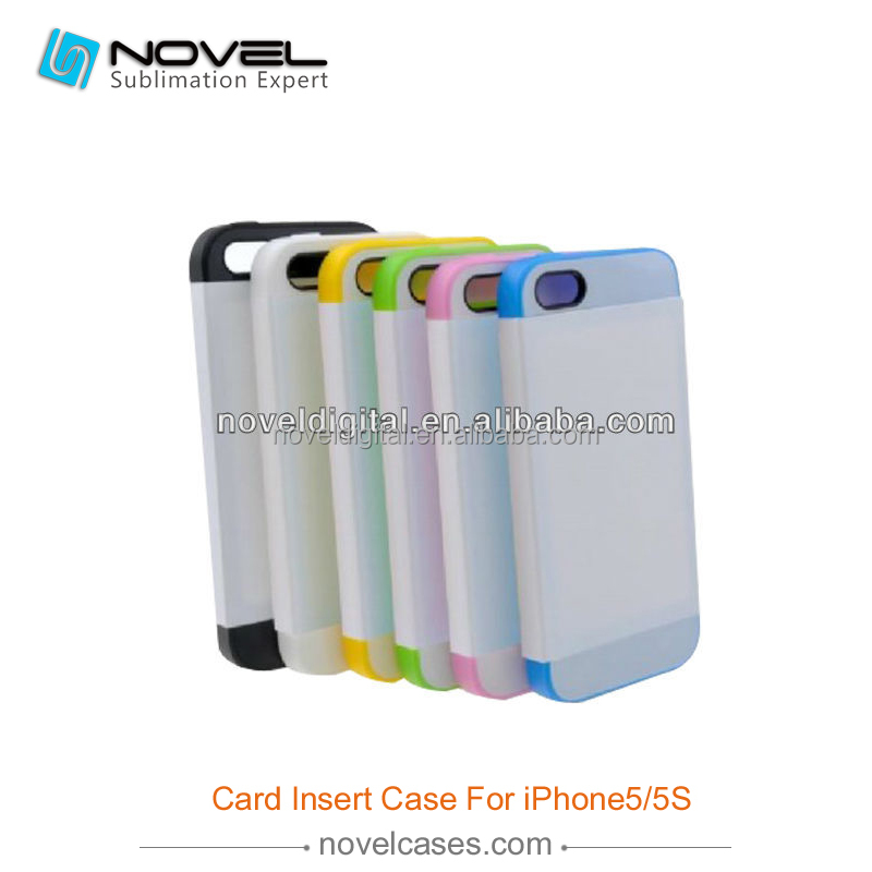 New Arrival Card Insert 3D Polymer Phone case for iPhone5/5S