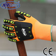NMSAFETY nitrile coating waterproof mechanic gloves