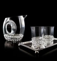Coral design carafe and glass Set