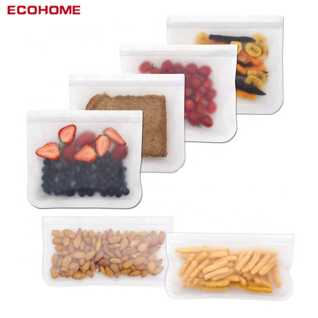Factory Eco Friendly Zip Lock Reusable Food Storage Bags with PEVA Material