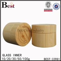 100g natural skin care bamboo cosmetic container