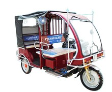 6 seats commercial family battery operated rickshaw electric tricycle for passenger
