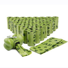 Heavy Duty Leak-Proof Biodegradable Scented Pet Dog Waste Bags Poop Bags with Dispenser and Leash Clip