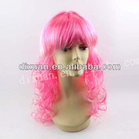 High Quality Colorful Party Wigs pink