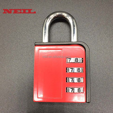 4 Dial Combination Padlock Number Code Locks for Travel School Gym Locker