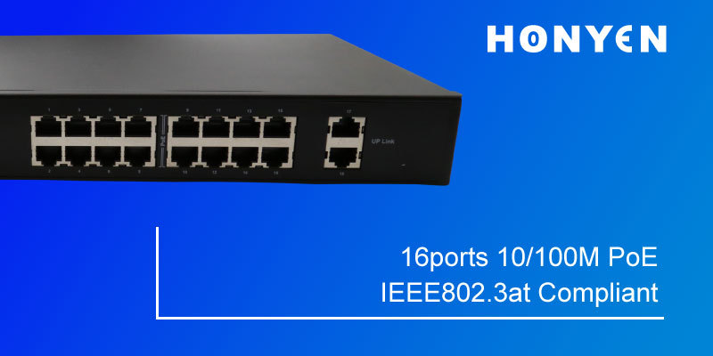 New arrival visable power 18Ports 10/100M PoE Switch HY-1118D-POE