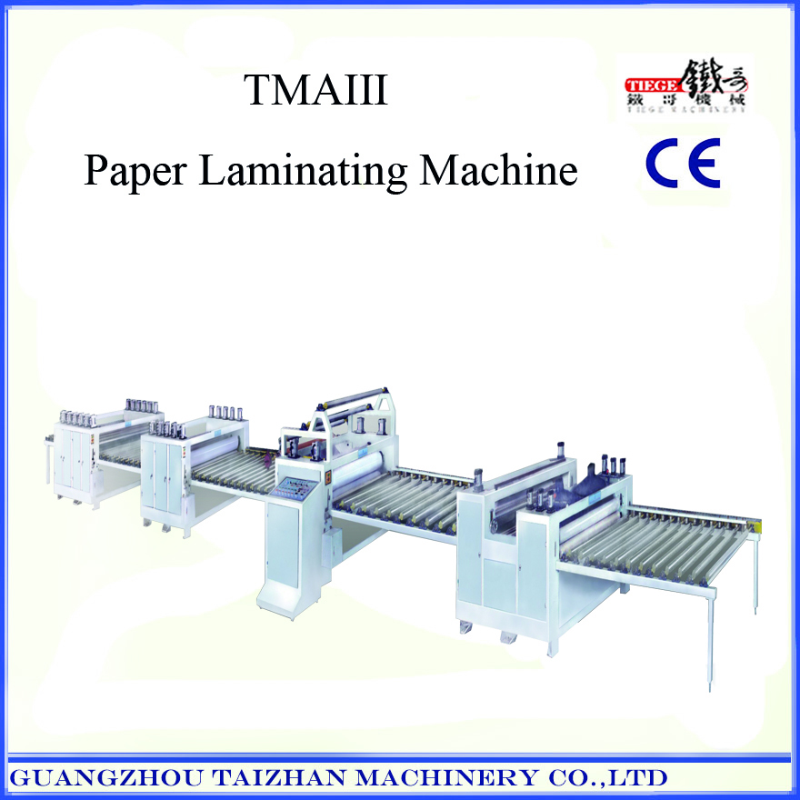 Plastic sheet laminating machine for decoration