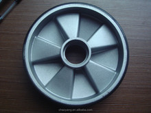 2015 hot sale al polyurethane wheels 200*50 for noblift truck china supplier
