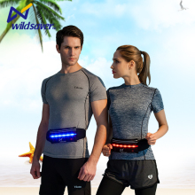 OEM outdoor night fashion fanny led reflective sports running belt waist pack bag
