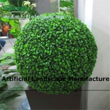 SJZJN 381 Hot sale Hanging Artificial milan Grass Ball/ geen Boxwood Topiary Balls