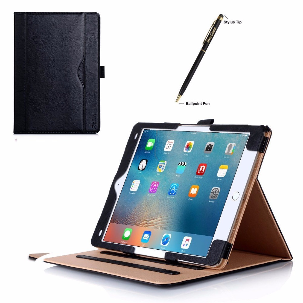 Leather air 2 keyboard case with pen holder for ipad