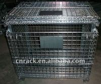 Collapsible steel basket