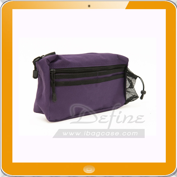 Small Purple Attachable Wheelchair Bag with Bottle Pouch