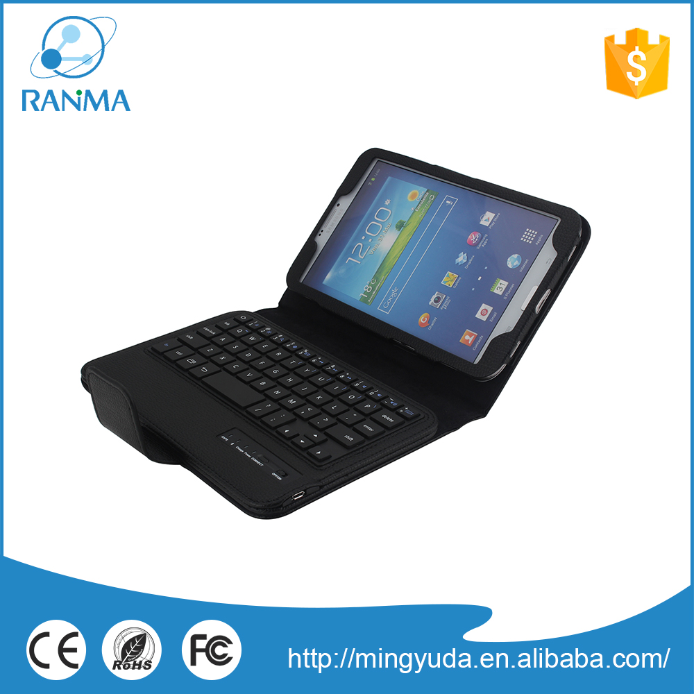 8 inch bluetooth keyboard flip leather tablet case for samsung Tab 3
