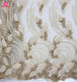2017 latest handmade beaded 3D flowers sequins French lace for ladies dresses lingerie