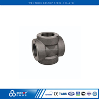 ANSI B16.11 Carbon Steel Forged Female Threaded Straight Cross high pressure pipe fittings
