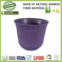 popular new purple natural customize eco bamboo fibre eco-friendly flower pot bamboo plant holder