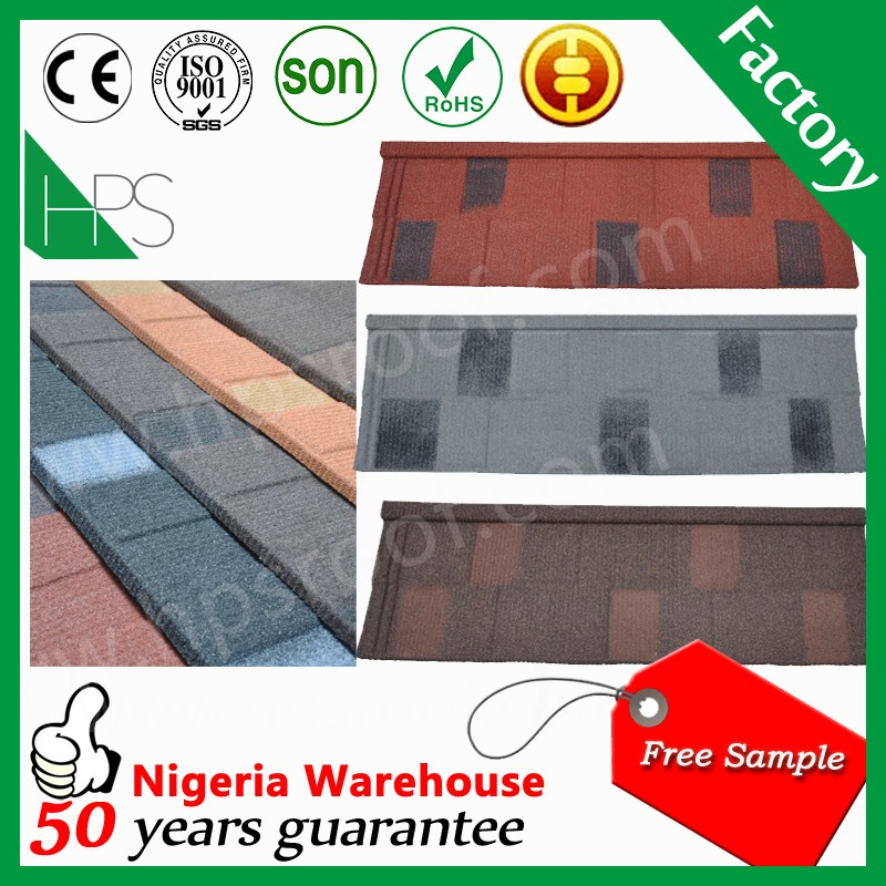 Cheap roofing materials Korean roof tiles sand coated metal roofing tiles