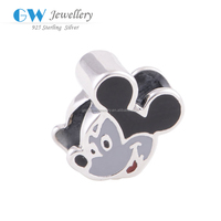 Latest New Design Enamel Mickey Mouse 925 Sterling Silver Charms Bracelet Charms