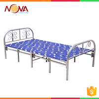 OEM Single adult antique outdoor metal lightweight folding beach bed