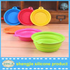 Fashion Silicone Travel Dish Feeding Water Feeder Bowl For Dogs And Cats