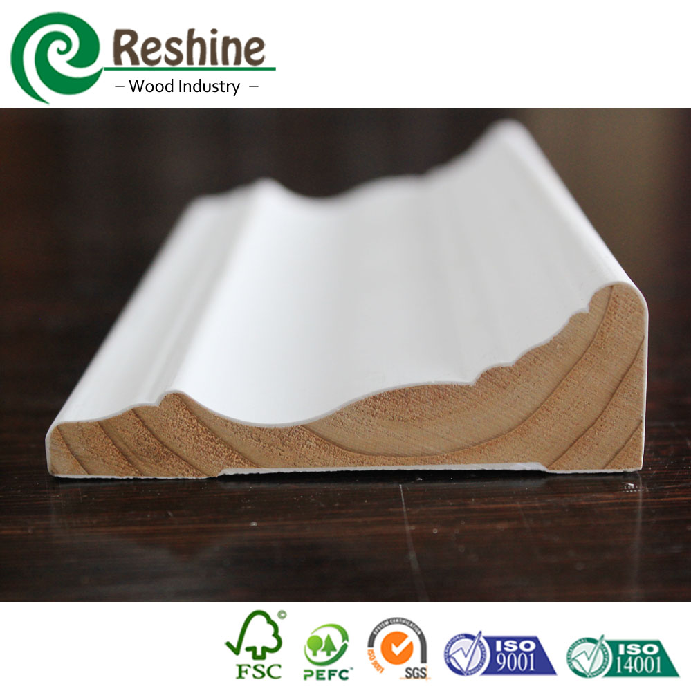 Timber Price Solid Wall Skirting Board Wood Frame Moulding