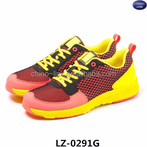 Hot sale ladies trainers runing sport shoes sneaker colorful light footwear running shoes