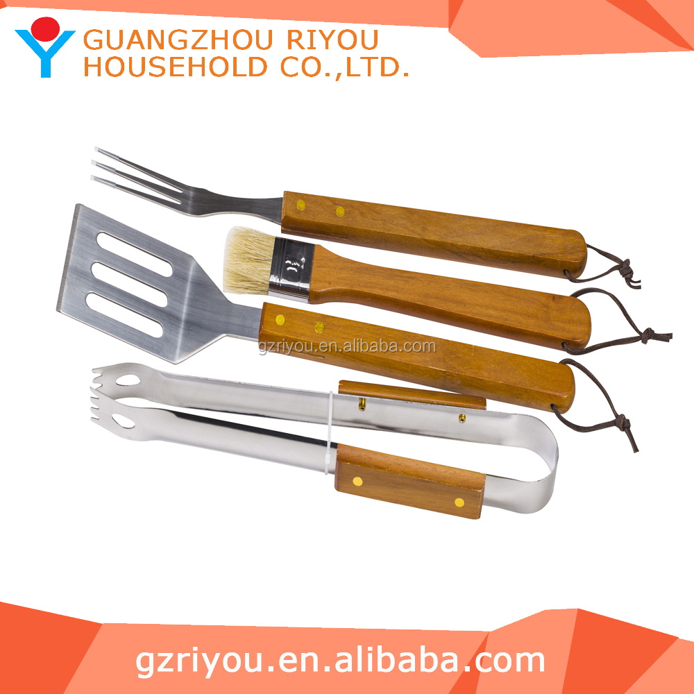 4 pcs gas bbq tool sets on sales for party camping