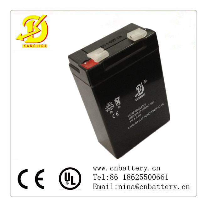 4v4ah lead acid battery/valve regulated accumulator