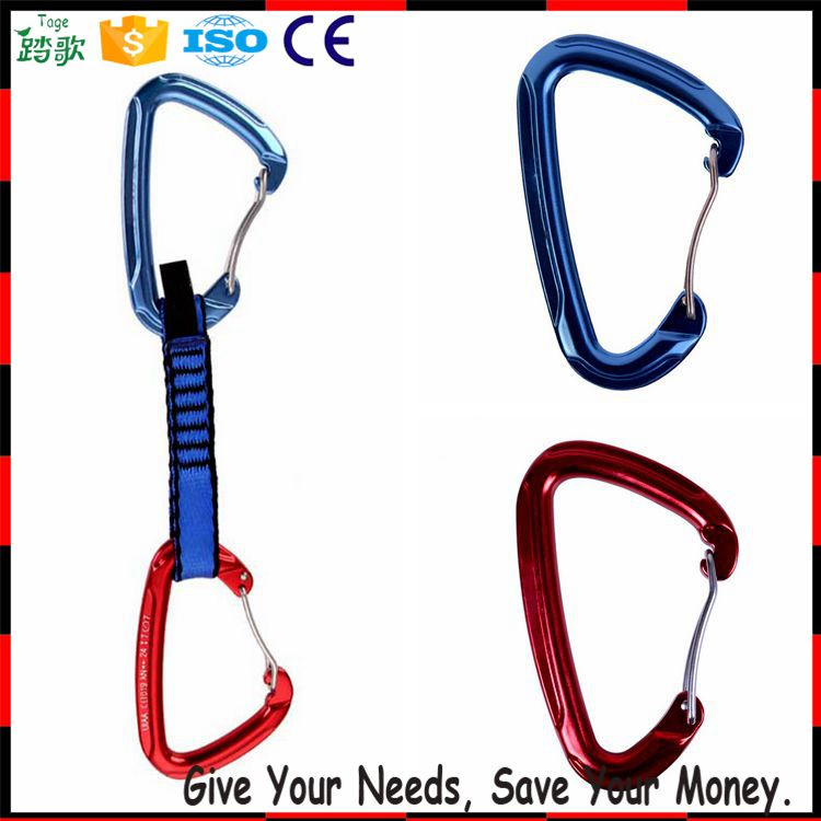 Light Weight Carabiner and Mini Aluminum Wiregate Carabiner