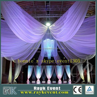 adjustable upright telescope pipe and drape backdrop ceiling drape