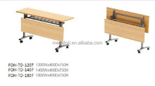 Modern Office folding training table with wheels (FOH-TD127-F)