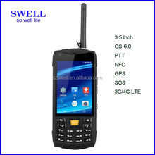 "MTK6589 Quad Core 4.0"" 1G+4G IPS 3G/NFC/GPS/PTT/BT Rugged multi function Smart phone radio walkie talkie 50km"