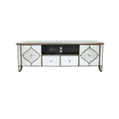 Unique design floating crystal cabinet mirrored TV stand / TV unit